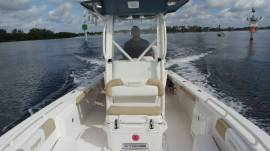 243 center console bay boat